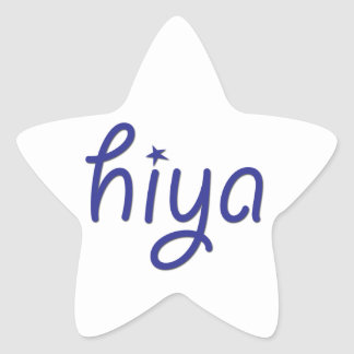 Hiya Star Sticker