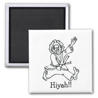 Hiyah!! 2 Inch Square Magnet