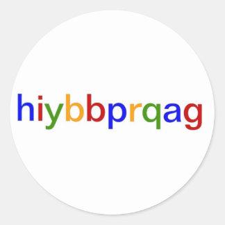 hiybbprqag classic round sticker