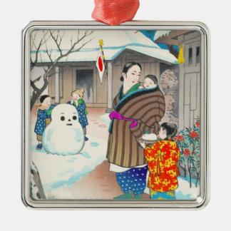 Hiyoshi Mamoru A Snow Man shin hanga winter scene Ornaments