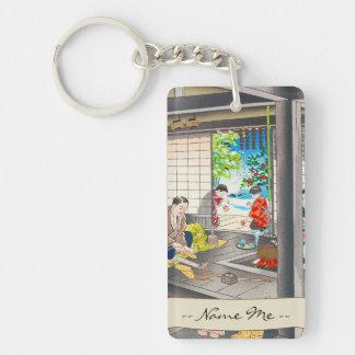 Hiyoshi Mamoru A Straw Sandle Maker Double-Sided Rectangular Acrylic Keychain
