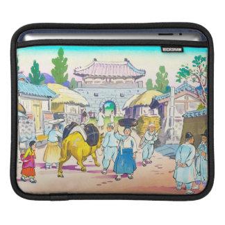 Hiyoshi Mamoru Korean  Market japanese scenery art iPad Sleeve