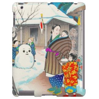 Hiyoshi Mamoru una escena del invierno del hanga d