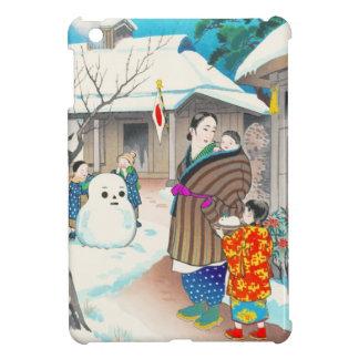 Hiyoshi Mamoru una escena del invierno del hanga d iPad Mini Cárcasas