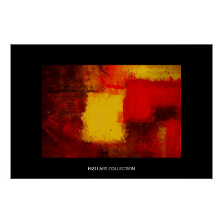 Hizli Art Collection - Red Yellow Brown Modern Abs Poster