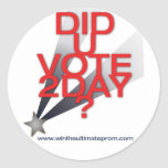 Hizo al pegatina del voto de U hoy
