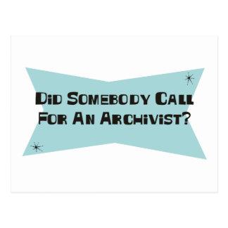 Hizo alguien llamada para un archivista postal