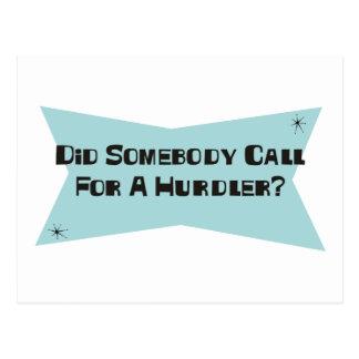 Hizo alguien llamada para un Hurdler Tarjeta Postal