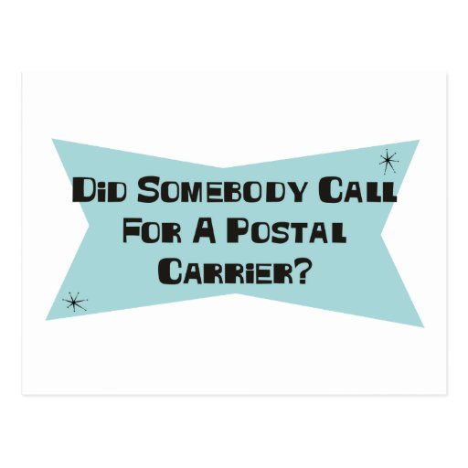Hizo alguien llamada para un portador postal