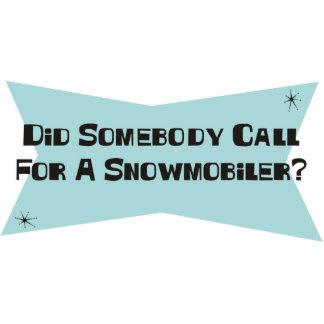 Hizo alguien llamada para un Snowmobiler Esculturas Fotográficas