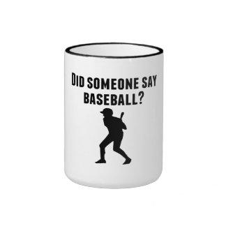 Hizo alguien para decir béisbol taza a dos colores