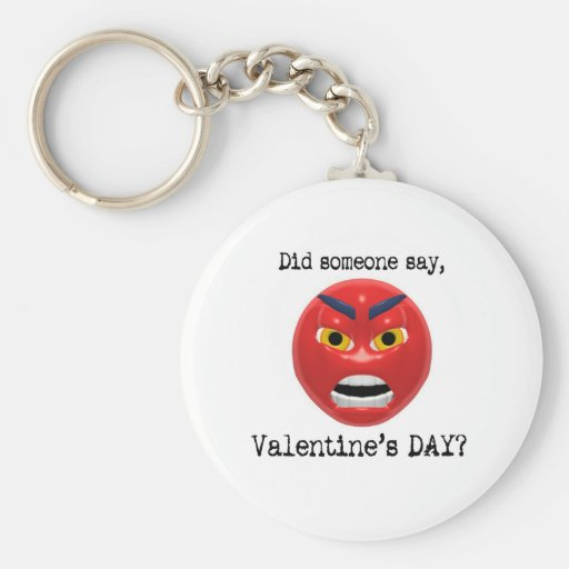 Hizo alguien para decir día de San Valentín Llavero Redondo Tipo Pin