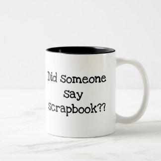 Hizo alguien para decir el libro de recuerdos taza de café