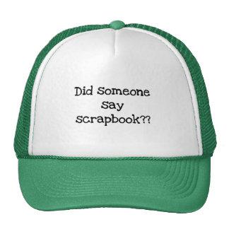 Hizo alguien para decir las camisetas y los regalo gorras