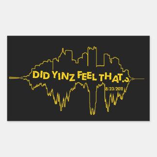 Hizo la sensación de Yinz eso Pegatina Rectangular
