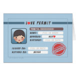 HJ-Story: Love Permit (Boy) Stationery Note Card