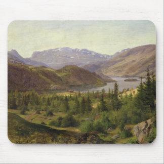 Hjelle in Valders, Tile Fjord, 1835 Mouse Pad