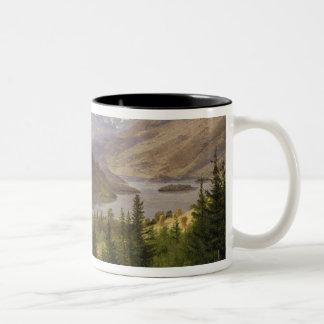 Hjelle in Valders, Tile Fjord, 1835 Two-Tone Coffee Mug