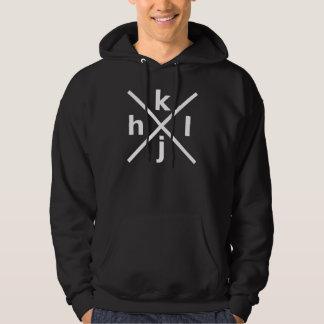 hjkl for Hardcore Vi/Vim Hackers - Black Hoodie