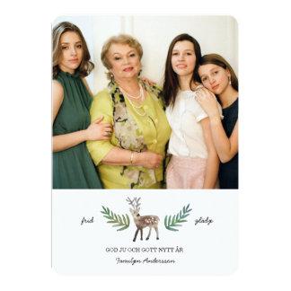 Hjortar Julkort 5x7 Paper Invitation Card