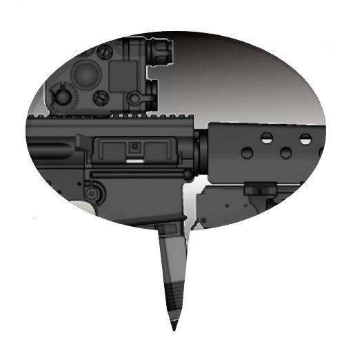 HK417 con M203 Decoración De Tarta