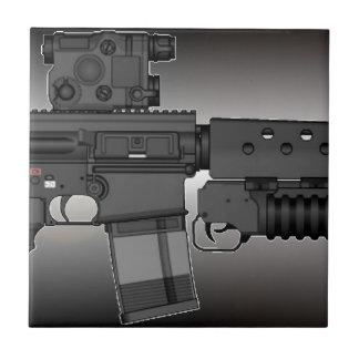 HK417 with M203 Ceramic Tile