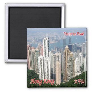 HK - Hong Kong - pico de Victoria Imán Cuadrado