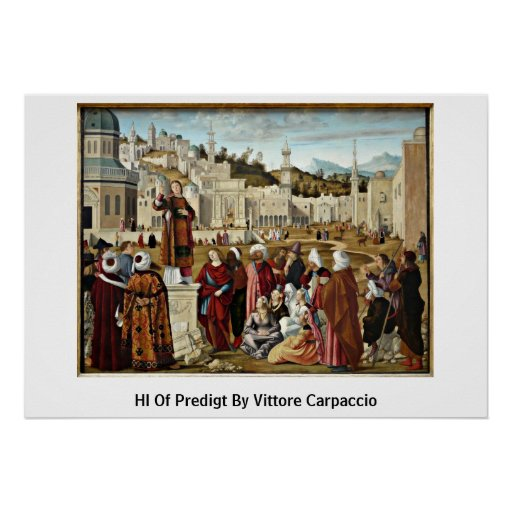 Hl de Predigt de Vittore Carpaccio Póster