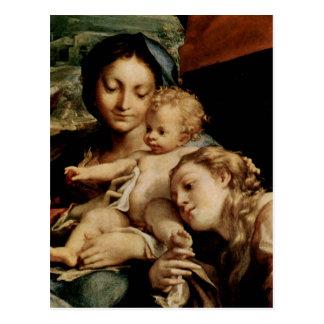 Hl del DES de Correggio Madonna. Hieronymus (etiqu Postales