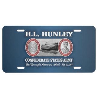 HL Hunley (CSA) License Plate