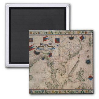HM 41 el Extremo Oriente, de un atlas portolan Imán Cuadrado
