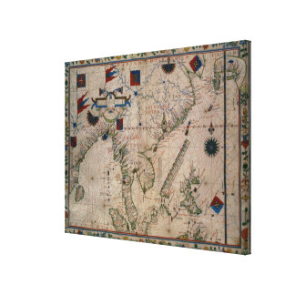HM 41  The Far East, from a portolan atlas Canvas Print