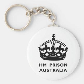 HM prisión Australia Llavero Redondo Tipo Pin