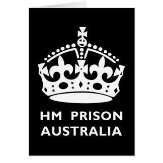 HM prisión Australia Tarjeta De Felicitación