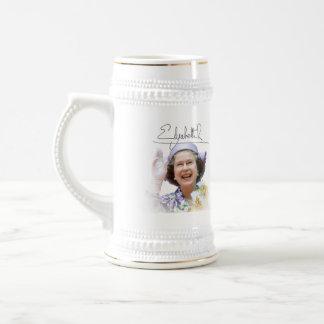 HM Queen Elizabeth II Beer Stein