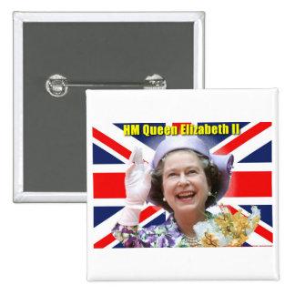 HM Queen Elizabeth II Button