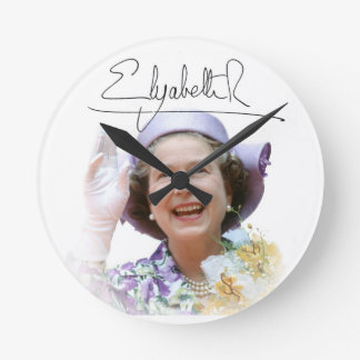 HM Queen Elizabeth II Round Clocks