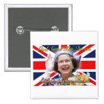 HM Queen Elizabeth II Diamond Jubilee Button