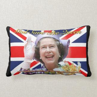 HM Queen Elizabeth II Diamond Jubilee Lumbar Pillow
