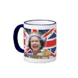 HM Queen Elizabeth II Diamond Jubilee Ringer Coffee Mug