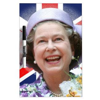 HM Queen Elizabeth II Dry Erase White Board