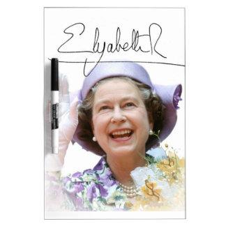 HM Queen Elizabeth II Dry-Erase Whiteboard