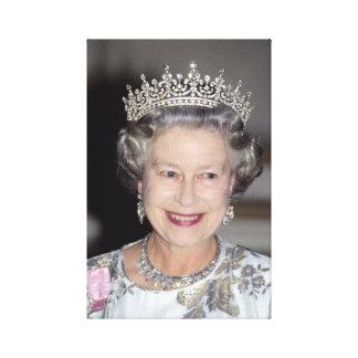 HM Queen Elizabeth II France 1992 Canvas Print
