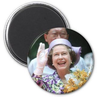 HM Queen Elizabeth II-Hong Kong-1987 Magnet