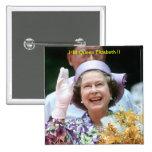 HM Queen Elizabeth II-Hong Kong-1987 Pin