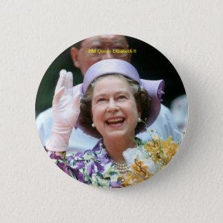 HM Queen Elizabeth II-Hong Kong-1987 Pinback Button