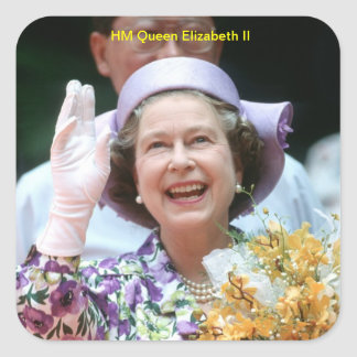 HM Queen Elizabeth II-Hong Kong-1987 Square Sticker