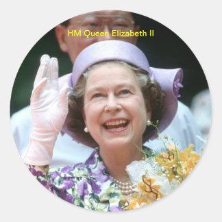HM Queen Elizabeth II-Hong Kong-1987 Sticker