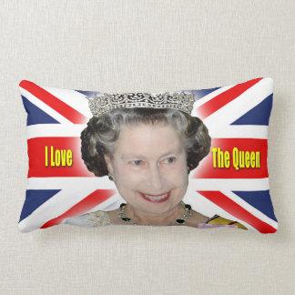 HM Queen Elizabeth II - I Love The Queen Throw Pillow