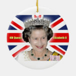 HM Queen Elizabeth II - Majestic! Double-Sided Ceramic Round Christmas Ornament